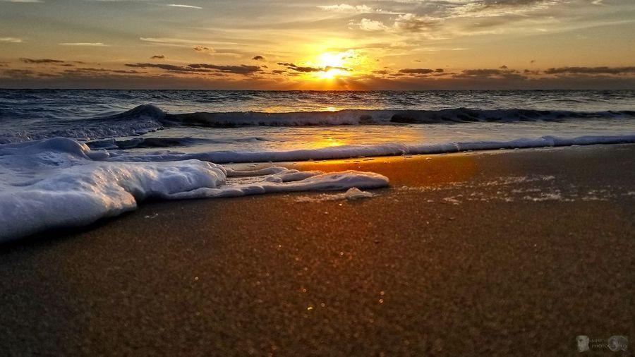 Good afternoon. 😊 EyeEm Best Shots Morning Sunrise Landscape Beach Water Wave Sea Sunset Beach Sand Sun Sunlight Sky Surf