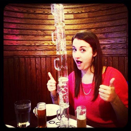 Gotta love beer flights.. Esp ones with stackable glasses :) Beerfun Hartford Beerflight