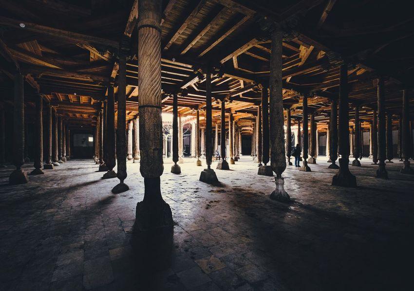 Juma mosque. Khiva. Uzbekistan. Architecture Uzbekistan Khiva Mosque City Old Old Buildings Old Town Architecture Urban Urban Geometry Urbanphotography Fujifilm_xseries Xf1024 Xt20 Fujifilm X-t20 Xf10-24mm Fujifilmru Travel Travel Destinations Traveling