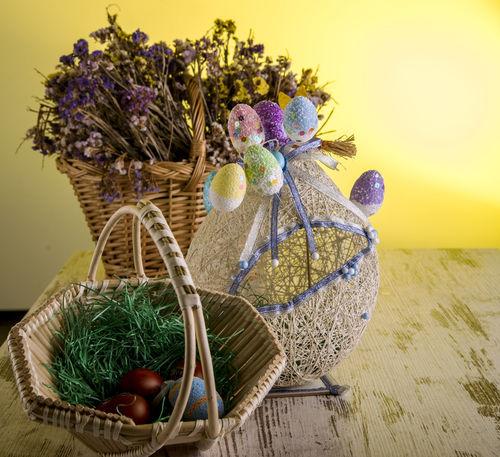Easter Easter Egg Easter Ready Easter Eggs Basket Decoration Easter Decoration Egg