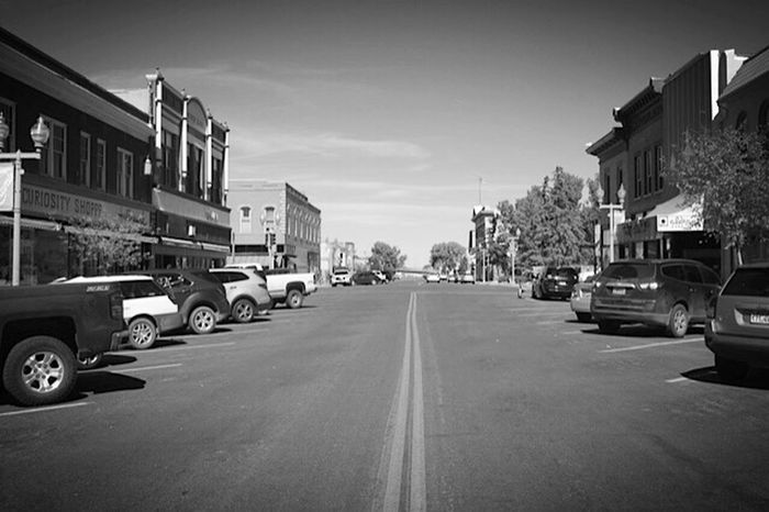Been There. Done That. Lost In The Landscape Architecture Small Town Stories Small Town America Laramie Wyoming Blackandwhite Photography Blackandwhite Black & White Black And White Collection  Eye4photography  EyeEm Best Shots Eyem Gallery Taking Photos Travel Destinations Ghost Urbanphotography Eyem Best Shots - Black + White Check This Out Main Street USA Road