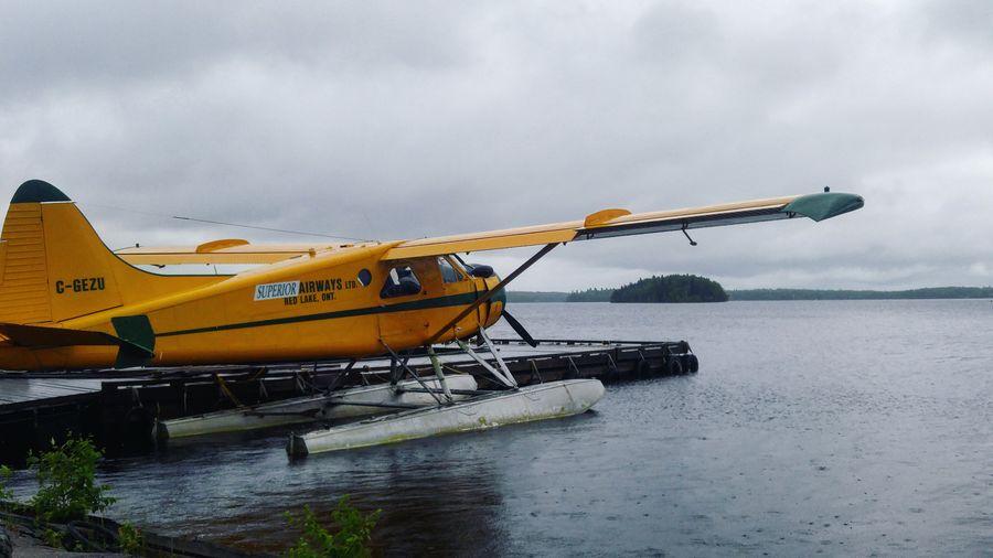 Dehavilland Dehavillandcanada Water Transportation Cloud - Sky Sky Outdoors Nature No People Working Day Floatplane Canada
