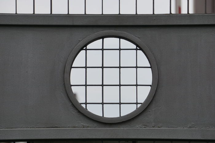there is nothing over Architecture Built Structure Circle Close-up Detail Details Fence Forms Gate Geometric Geometric Shape Grey Iron Gate Minimal Minimalism No Edit Nofilter Outdoor Photography Overhead View Sony A6000 Urban Design Urban Geometry Urbanphotography