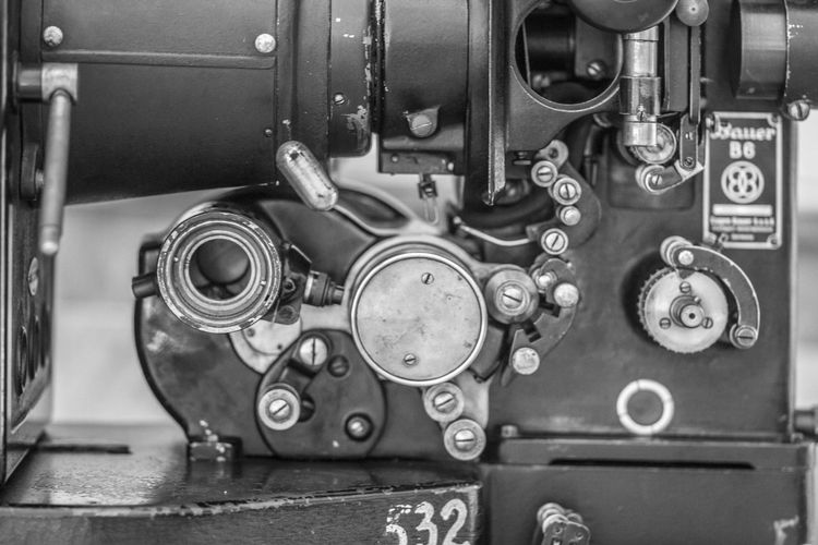 Cinema Paradiso Close-up Day Engine Gear Indoors  Machine Part Machinery Metal Mode Of Transport No People Steel Technology Transportation Vehicle Part