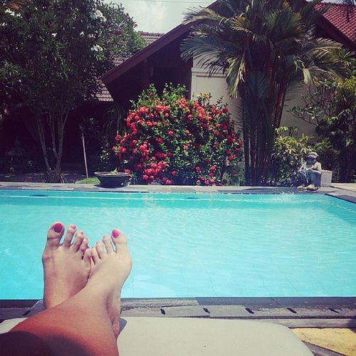 Chilling by the pool today..