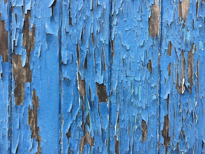 Weathering Blue 01 Weathered Textured  Backgrounds Wood - Material Old Close-up Full Frame Rough Paint Pattern Damaged Day Outdoors No People AtelierArgos IPhoneography Abandoned Architecture Graffiti Textured  Bad Condition