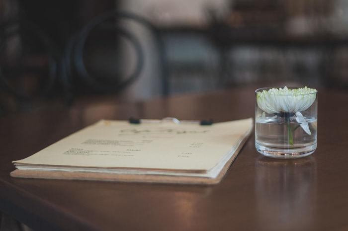 Menu Indoors  Table Flower Menubook