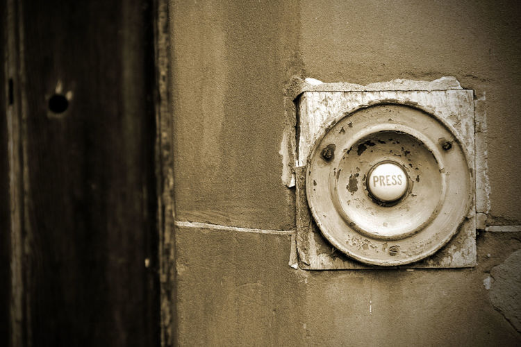 Close-Up View Of Doorbell