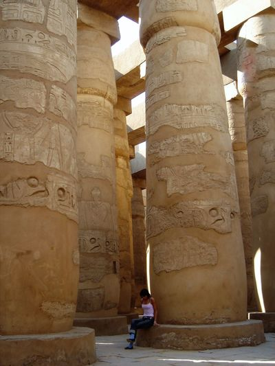 Architecture Built Structure Architectural Column Old Ruin Travel Destinations History Ancient Travel Place Of Worship Ancient Civilization Shadow Tourism Outdoors Day Business Finance And Industry Ancient History One Person People Adults Only Adult Egypt ThatsMe Luxor_temple Luxor