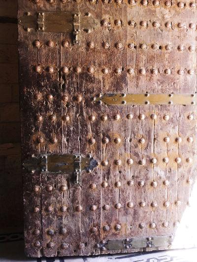 Door Full Frame Historic Doors Metal Obsolete Old Pattern Single Object Textured  Wood Wooden