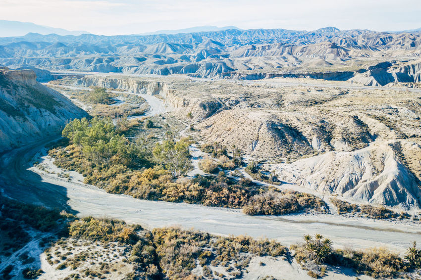 DJI X Eyeem Desert Wild West Aerial View Beauty In Nature Cold Temperature Day Desert Landscape Landscape Mountain Mountain Range Nature No People Outdoors Sand Scenics Sky Snow Snowcapped Mountain Tabernas Desert Tranquil Scene Tranquility Western Winter
