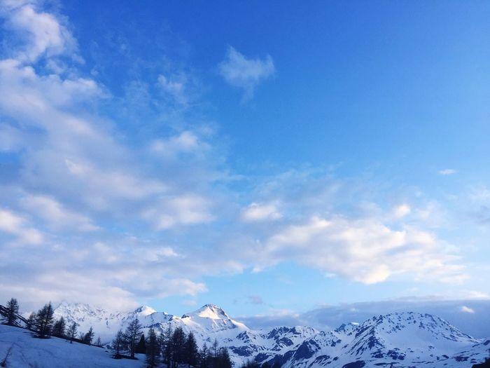 Snow Winter Cold Temperature Sky Mountain Cloud - Sky Scenics - Nature