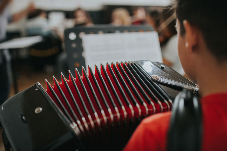 Learning Music Skill  Accordeon Accordion Accordionist Akkordeon Arts Culture And Entertainment Concentration Holding music brings us together Music School Musical Musical Equipment Musical Instrument Musical Instruments Musician Occupation Analogue Sound