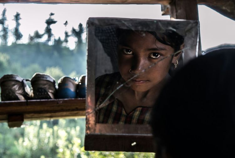 Look! Childhood Close-up Day Headshot Mammal One Person Outdoors People Portrait Real People Sky Tree Window Young Adult
