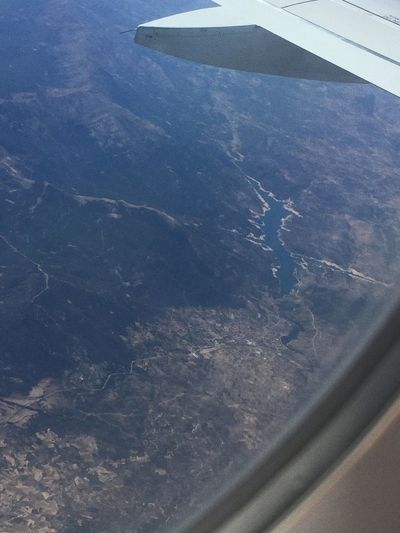 Aerial View Journey Flying Mid-air