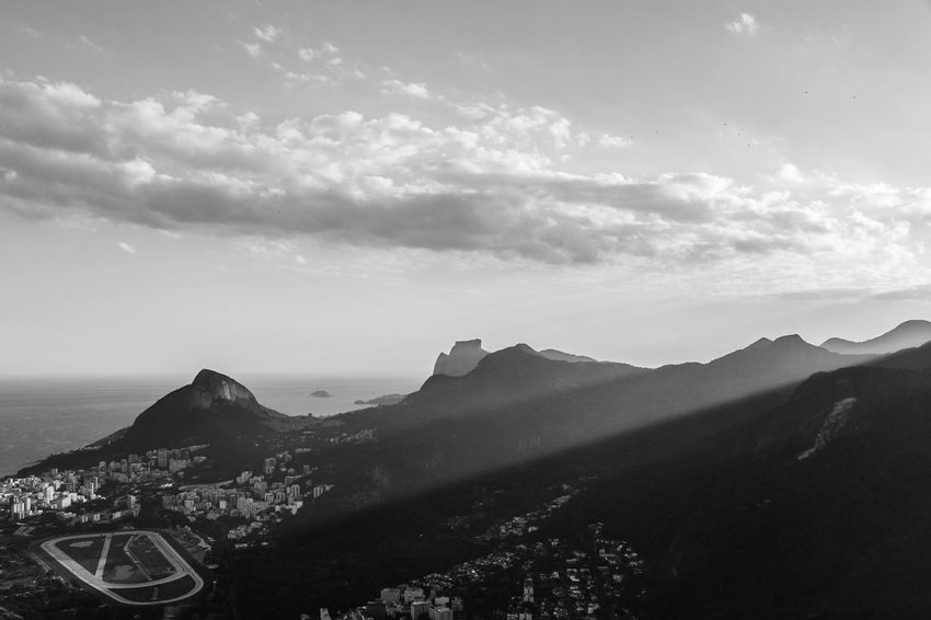 City Cloud Sunrays Landscape Mountain Outdoors Sky Black And White Friday