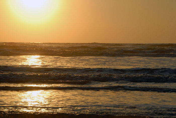 Texas Landscape Beach Beauty In Nature Gold Colored Horizon Horizon Over Water Nature No People Ocean Outdoors Reflection Scenics Sea Sky Summer Sun Sunlight Sunset Texas Beaches Tranquil Scene Tranquility Travel Destinations Vacations Water Wave