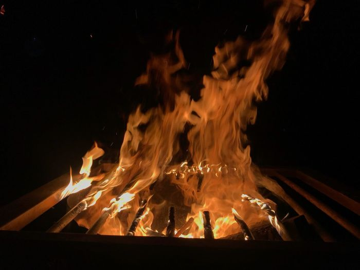 Night Burning Fire Flame Heat - Temperature Fire - Natural Phenomenon #urbanana: The Urban Playground Wood - Material Bonfire Nature Wood Long Exposure Blurred Motion No People Event Firewood Celebration