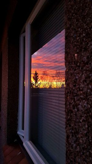 Sunset Window Curtain No People Indoors  Water Architecture