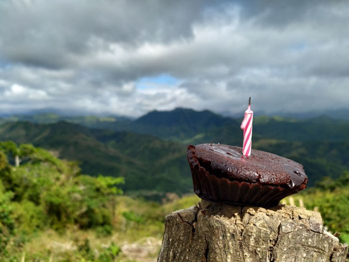 Cake Birthday Cake Mountain Range Kulotitay Clicks Xiaomimia2 Shotbymi Xiaomiphotography XiaomiPhilippines Smartphoneshot Mountain Sky Close-up Landscape Cloud - Sky Mountain Range Birthday Candles My Best Photo