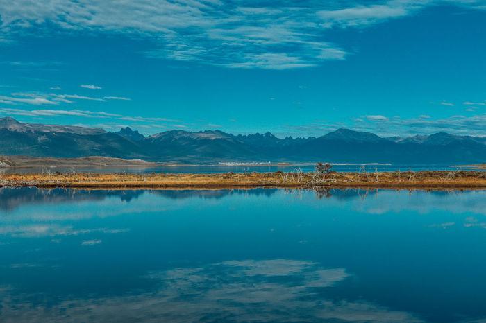Nature Tierra Del Fuego Wanderlust Argentina Beagle Channel Beauty In Nature Blue Day Lake Landscape Mountain Mountain Range Nature No People Outdoors Reflection Salt - Mineral Salt Flat Scenics Sky Tranquil Scene Tranquility Travel Destinations Water Waterfront