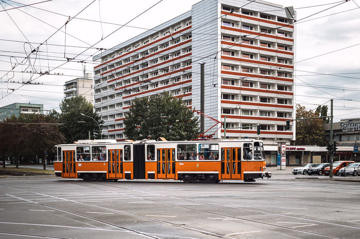 Trainspotting! Another one from celebration 40 years of Tatra trams in Berlin. Special trips throughout the day Architecture Building Exterior Built Structure Cable Cable Car City City Life City Street Day Electricity Pylon Land Vehicle Mode Of Transport Office Building Outdoors Public Transportation Railroad Track Road Sky Skyscraper Street Tall Tall - High Tower Tram Transportation