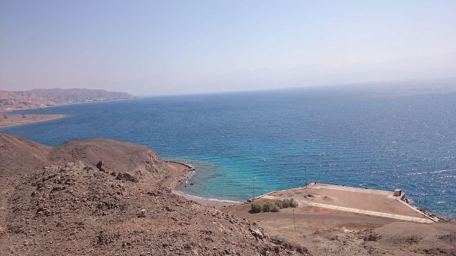 Taba, Egypt An Eye For Travel Egypt Nature Beach Beauty In Nature Blue Sky Day Horizon Over Water Mountain Nature No People Outdoors Scenics Sea Sinai Sinai Egypt Sky Taba  Taba Egypt Tranquil Scene Tranquility Water