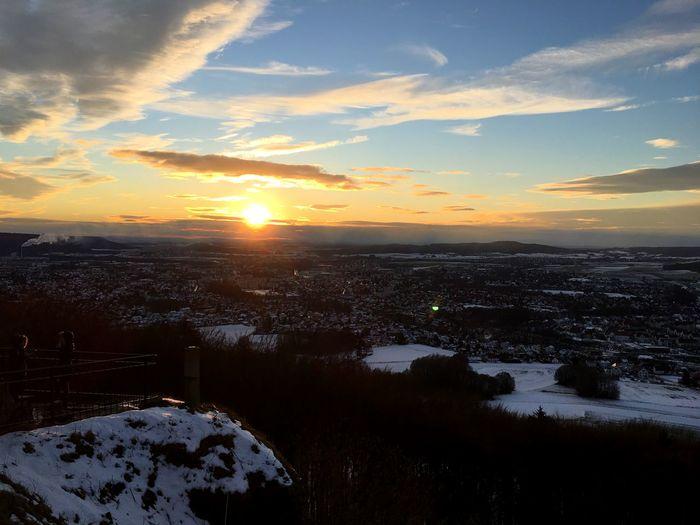 Sunset Sky Snow