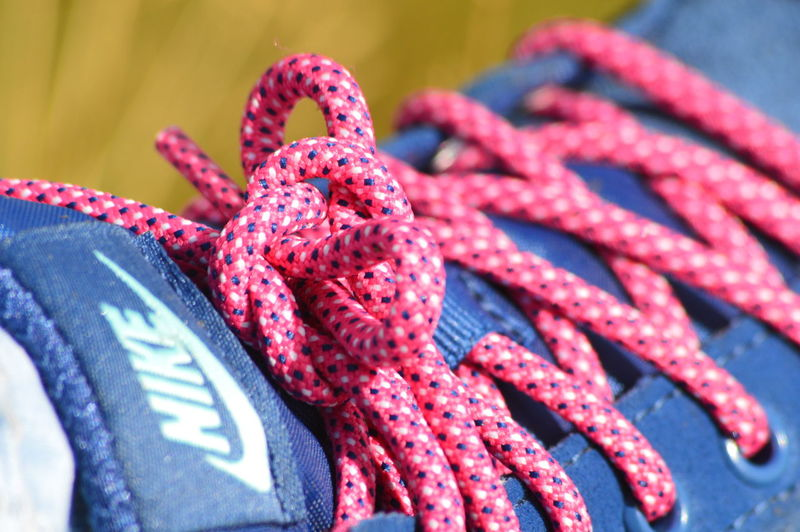 Close-up Day Maximum Closeness No People Outdoors Red Laces Walking Walking Boots Millennial Pink