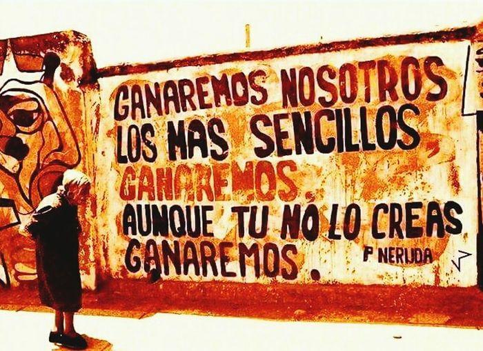 Pablo Neruda Anciana En La Calle Mural Art Socialism