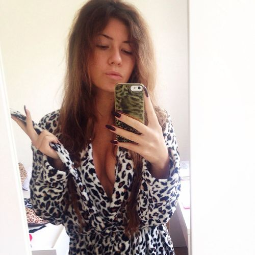 Animalprint IPhone That's Me Hair after a cold shower ??