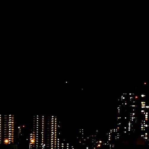 今日は快晴だったので日没してからの金星と水星がめっちゃクッキリ☆ 日没 金星 水星 幕張 Sunset Venus Mercury Makuhari Sonyalpha A6000 Sel55210