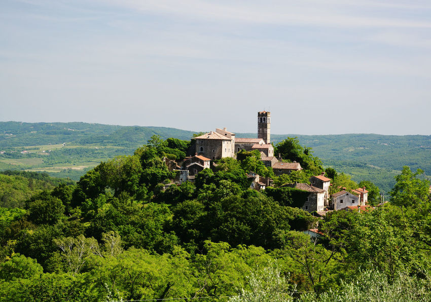 Croatia Green Istria Medieval Old Architecture Panorama Piemonte Sunny Tower UphillVillage Zavrsje