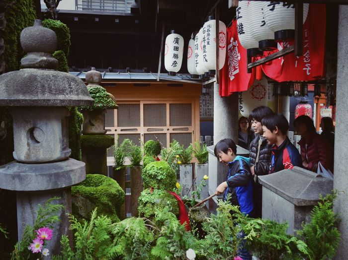 Hozenji Temple, Osaka, Japan Outdoors Casual Clothing Plant Building Females Group Of People Building Exterior Togetherness People Day Leisure Activity Males  Child Built Structure Adult Real People Lifestyles Childhood Architecture Men Women Travel Japan OSAKA Hozenji