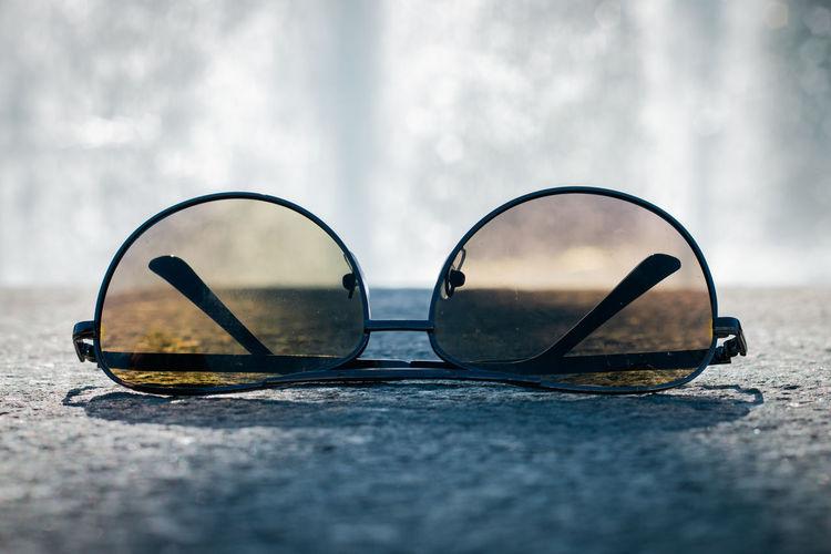 Surface level of sunglasses