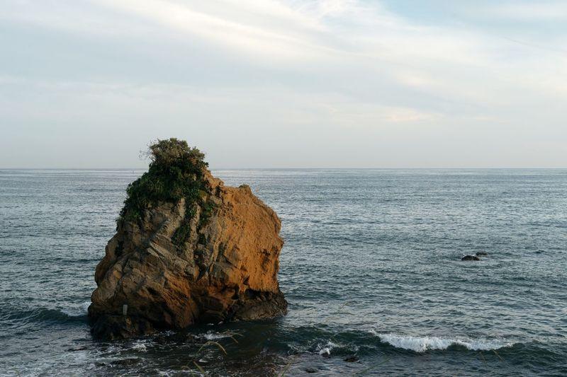 Sea And Sky Rock Seaside Seaside Rock Evening Sky Seascape July 2016 Hello World Beatyful Nature Landscape EyeEm Best Shots - Landscape Landscapes With WhiteWall Hayama Kanagawa,japan Japan