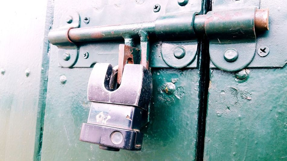 closed Backgrounds Full Frame Lock Door Safety Security Metal Latch Closed Close-up Locked Closed Door