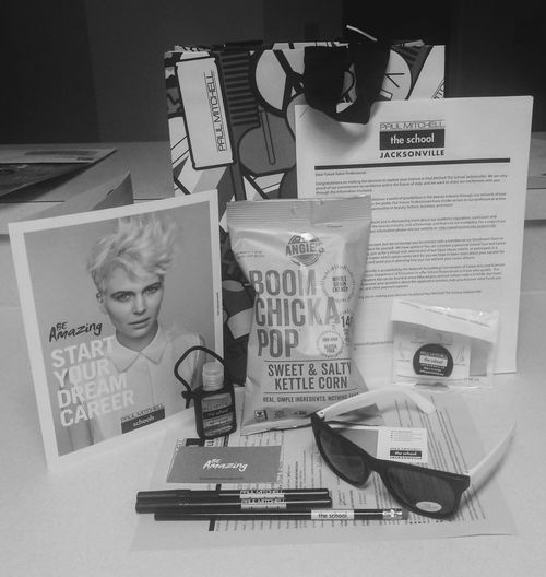 swag bag from open house. enrolling next month Paulmitchelltheschool