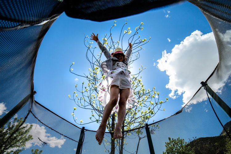 Sky Protection Eyem Select EyeEmNewHere Outdoors Jumpstyle My Daughter❤️ Passionforphotography Children Sommergefühle Let's Go. Together.