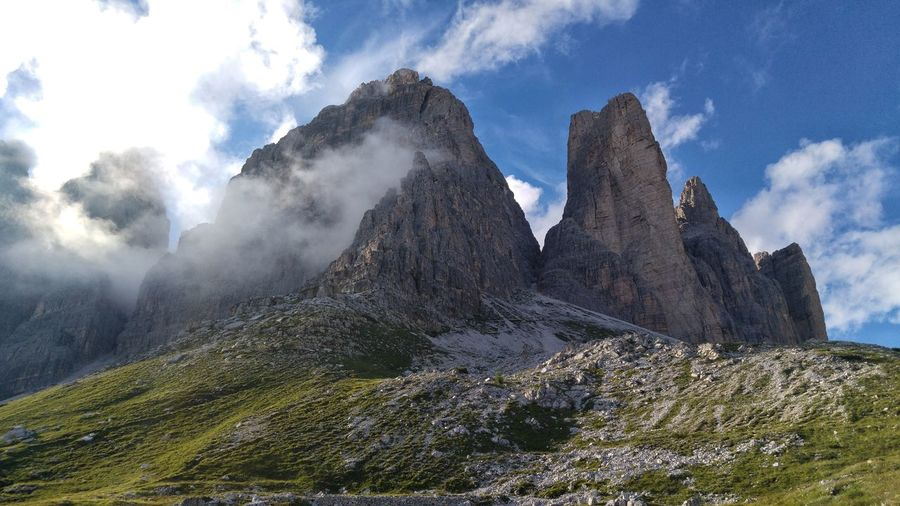 Dolomiten Mountain Mountains Dolomiti Italy EyeEm Selects Sky Cloud - Sky Rock Formation Rugged Rock Boulder Panoramic