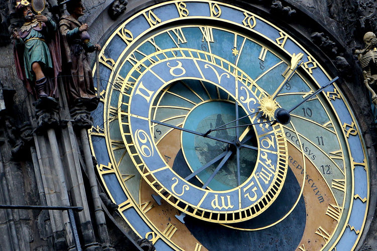Face of astronomical clock