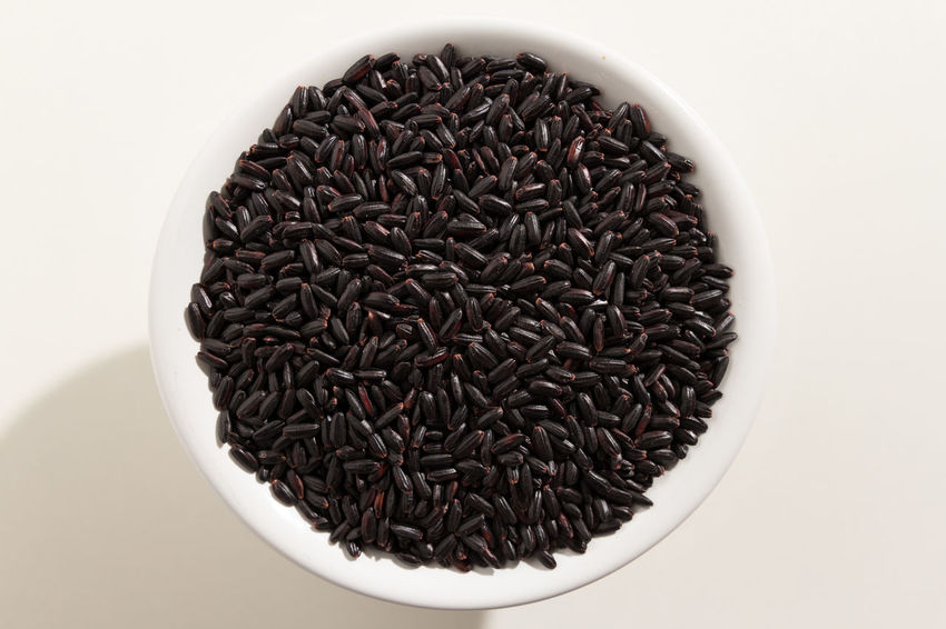 Abundance Black Rice Bowl Close-up Day Directly Above Food Food And Drink Freshness Healthy Eating Indoors  No People White Background
