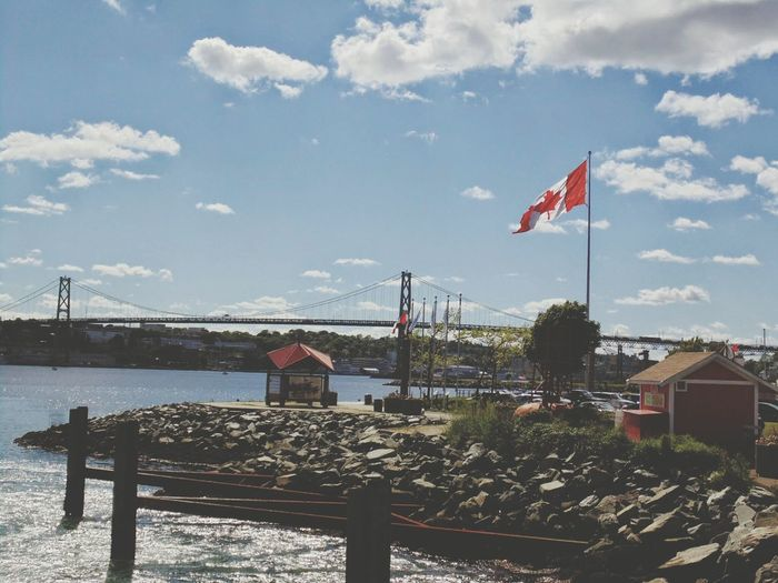 Ferry hoppin'. Halifax Harbour View Beautiful Day Dartmouth Water Skies Clouds Landscape
