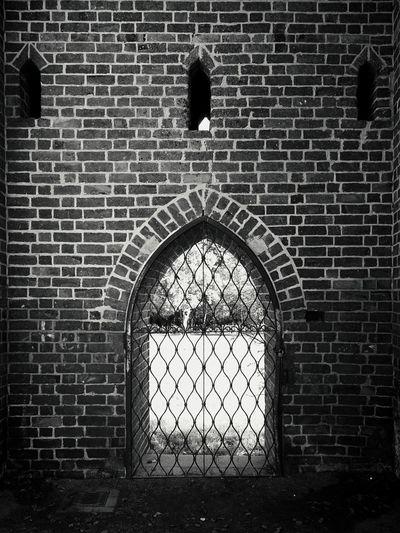 Close Up Of Brick Gate