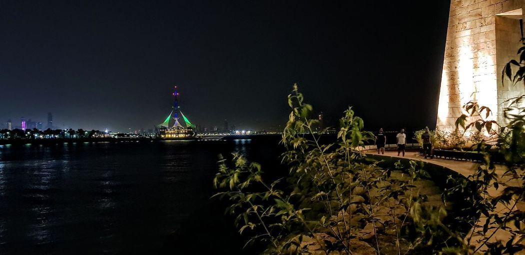 Salmiya, Kuwait Politics And Government City Water Illuminated Sky Architecture Building Exterior
