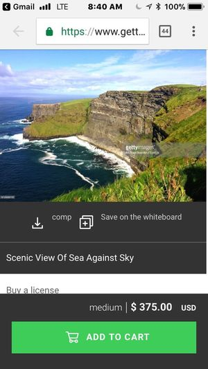 Trust me I am humbled but, are they seriously thinking my photo will sell for that price. Am I set up to fail or is this realistic? Wait and see. At least the low price, for the smaller print, is only $50. Ireland Landscapes Ireland Sea Text Communication Mountain Water Nature Scenics