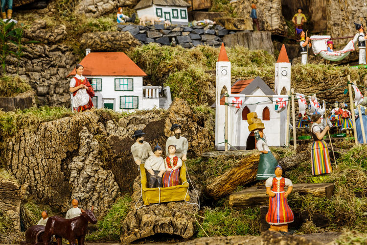 Madeira Island Adult Adults Only Architecture Baby Jesus Crib Crib Figurine Day Human Body Part Large Group Of People Men Only Men Outdoors People Shepherds Togetherness Tree Young Adult