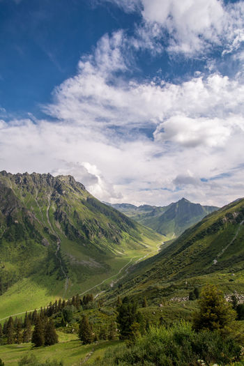 Betterlandscapes Green Green Color Alpine Landscape Alps Beauty In Nature Blue Day Landscape Mountain Mountain Range Nature No People Outdoors Sky Summer