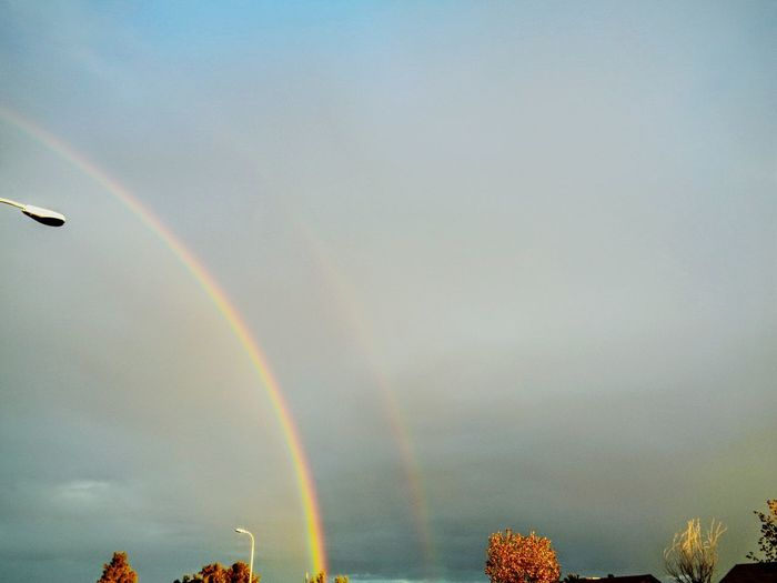 Beauty Times Two Double Rainbow Godsbeauty Tonights Sky Arizonasky Colorsplash Photography Eyeemarizona