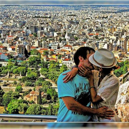 Greece Ελλάδα Athens Αθηνα Whitecity Atina VisitGreece Instagreece Instaathens Amazing City Streetsofathens Greekarchitecture Architecture Beautiful View Viewfromthetop Kissing Enjoying Love
